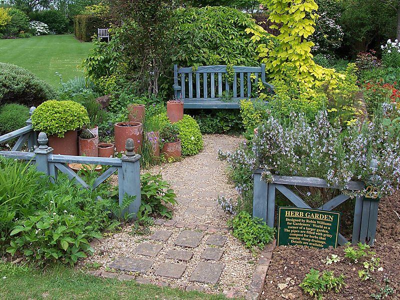 Barnsdale herb garden