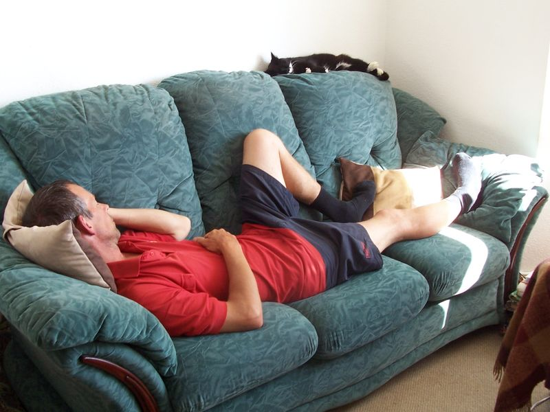Martin and sophie sleeping