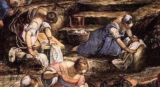 Tintoretto Jews in the desert